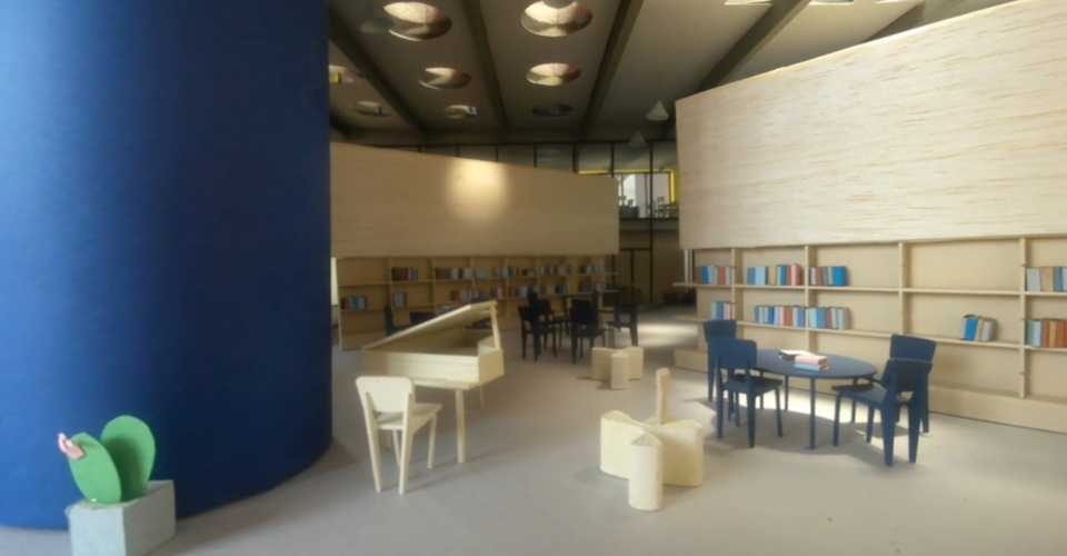 New library in lorenteggio coverpiccola